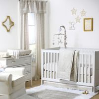 The Peanut Shell® Confetti Chevron 4-Piece Crib Bedding Set in White/Gold