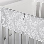 The Peanut Shell® Damask Crib Rail Guard in Grey