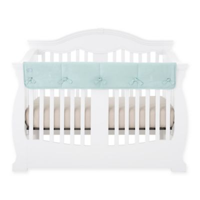 babee talk ecoteether long crib rail cover in aqua
