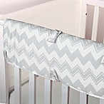 The Peanut Shell® Chevron Crib Rail Guard in Grey