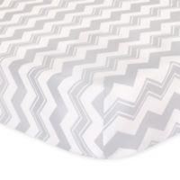 The Peanut Shell® Chevron Fitted Crib Sheet in Grey