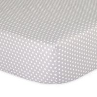 The Peanut Shell® Dots Fitted Crib Sheet in Grey