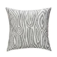 Glenna Jean Lil Hoot Wood Print Throw Pillow in Grey