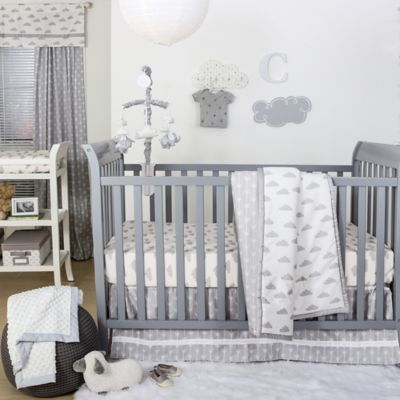 Crib Bedding Sets The Peanut Shell Clouds 4 Piece Set In