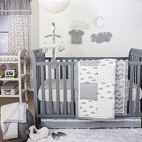The Peanut Shell 174 Cloud Patchwork Crib Bedding Collection