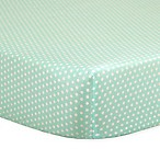 The Peanut Shell® Mini-Dots Fitted Crib Sheet in Mint