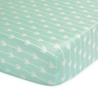 The Peanut Shell® Arrow Fitted Crib Sheet in Mint
