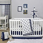 The Peanut Shell® Anchor 4-Piece Crib Bedding Set in White/Navy