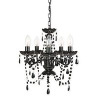 Sleeping Partners 5-Light Chandelier in Black Onyx