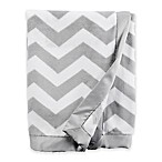 carter's® Chevron Velboa Baby Blanket in Grey/White