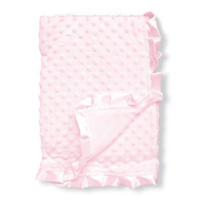 nuby cuddly soft raised dot satin trimmed baby blanket