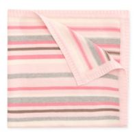 Elegant Baby® Multi-Stripe Knit Blanket in Pink