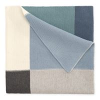 Elegant Baby® Patchwork Knit Blanket in Multicolor Blue