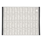 Elegant Baby® Hello World Knit Blanket