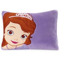 Disney® Sofia the First Toddler Throw Pillow in Purple