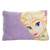 "Disney® ""Frozen"" Toddler Throw Pillow in Purple"