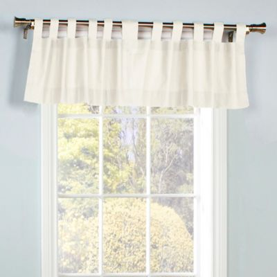 Curtains Ideas chocolate brown tab top curtains : Buy Tab Top Valances from Bed Bath & Beyond
