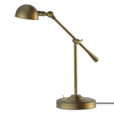 LED Adjustable Pharmacy Table Lamp In Antique Brass