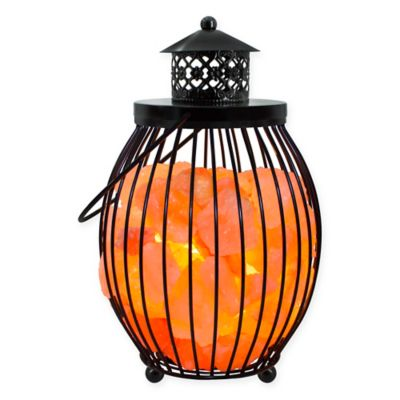 Himalayan Salt Lamps At Bed Bath And Beyond : Himalayan Glow Ionic Salt Crystal Metal Olivary Lantern - Bed Bath & Beyond