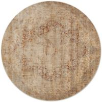 Loloi Rugs Anastasia Crystal 9-Foot 6-Inch Round Area Rug in Beige