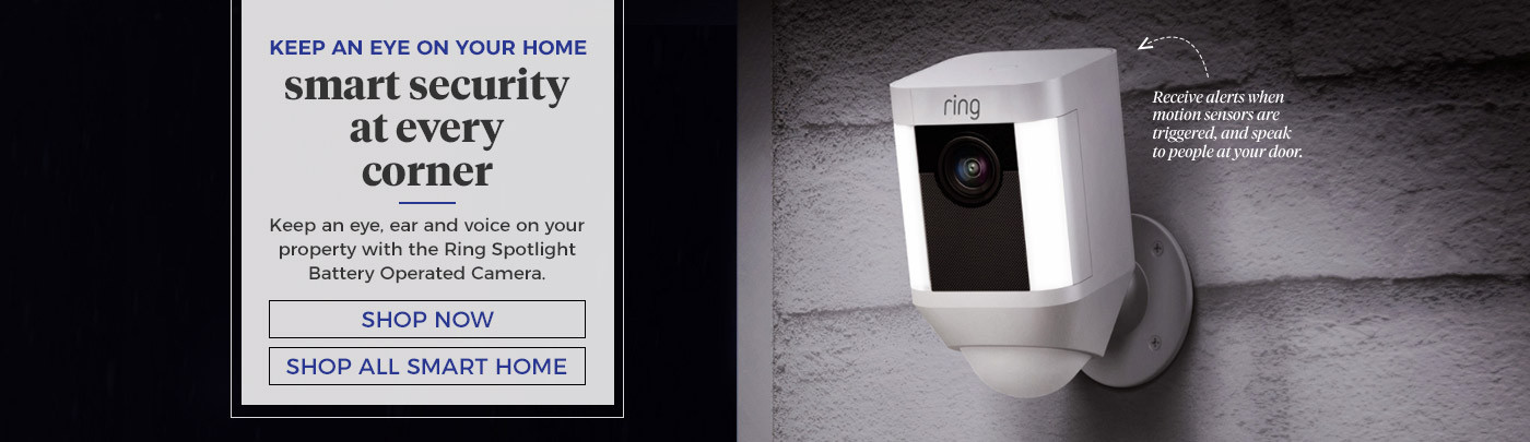 Keep an eye on your home. smart security at every corner