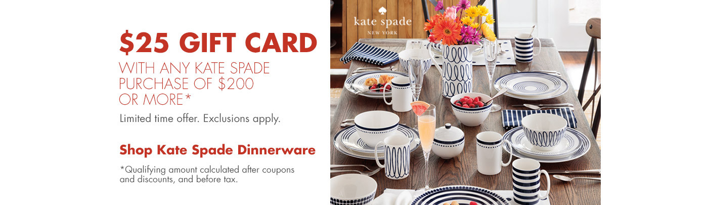 $25 Gift Card with Kate Spade Purchase