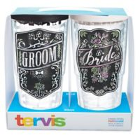 Tervis® Wedding Bride and Groom 24 oz. Chalkboard Wrap Tumbler with Lid