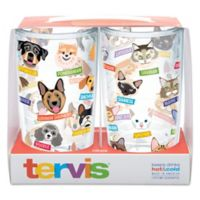 Tervis® Flat Art Dog and Cat Breed 16 oz.Wrap Tumblers (Set of 2)