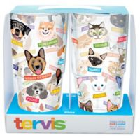 Tervis® Flat Art Dog and Cat Breed 24 oz. Wrap Tumblers (Set of 2)