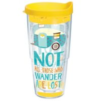 "Tervis® Retro Camper ""Not All Who Wander Are Lost"" 24 oz. Wrap Tumbler with Lid"