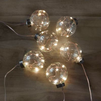 Loft Living 10-Foot Copper Bulb LED String Lights - Bed Bath & Beyond