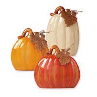 Ceramic 3-Piece Pumpkin Set