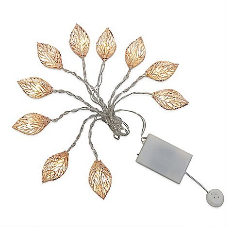 Loft living 10 foot decorative novelty leaves string - Bed bath and beyond palm beach gardens ...
