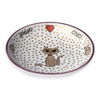 Chic Kitty 2.5 oz. Saucer in White Multi Shimmer