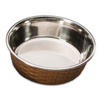 Soho 15 oz. Basket Weave Dish in Copper