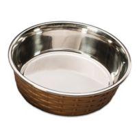 Soho 55 oz. Basket Weave Dish in Copper