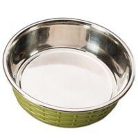 Soho Basket Weave Dish 30oz in Green