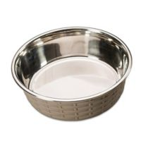 Soho 55 oz. Basketweave Dish in Grey