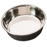 Soho 30 oz. Basketweave Dish in Black