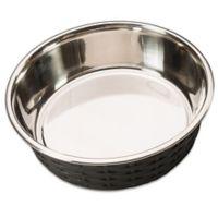 Soho 55 oz. Basketweave Dish in Black