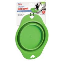 Large Collapsible Pet Bowl in Green