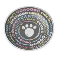 Pet Names 2.5 oz. Saucer in Dark Grey