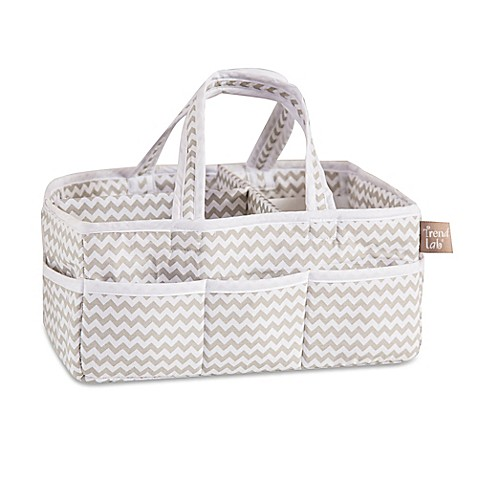 image of Trend Lab® Ombre Grey Chevron Diaper Caddy
