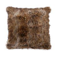 Cozy Faux Fur European Pillow Sham in Brown