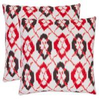 Safavieh Argyle 22-Inch x 22-Inch Throw Pillows in Red (Set of 2)
