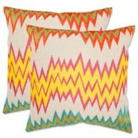 Safavieh Ashley 22-Inch x 22-Inch Throw Pillows in Neon/Yellow (Set of 2)