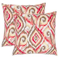 Safavieh Bardot 22-Inch x 22-Inch Throw Pillows in Brown (Set of 2)