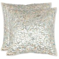 Safavieh Dialia 22-Inch x 22-Inch Square Throw Pillows in Silver (Set of 2)