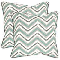 Safavieh Elli 22-Inch x 22-Inch Throw Pillows in Green/White (Set of 2)