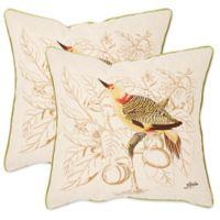Safavieh Esty 22-Inch x 22-Inch Throw Pillows in Creme (Set of 2)